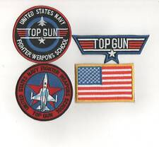 4 x IRONON TOPGUN U.S.A PATCHES BUY 2 SETS GET1SET FREE