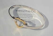 TIFFANY & Co 18 CARATS 18K or argent sterling chaînon en forme de coeur bracelet
