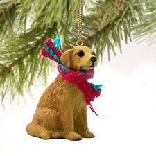 GOLDEN RETRIEVER DOG CHRISTMAS ORNAMENT HOLIDAY XMAS Figurine Scarf  gift