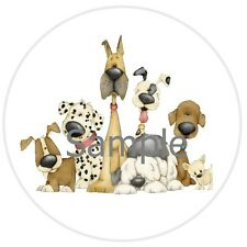 63 STICKER LABELS - PUPPY DOG FRIENDS #36 ~  OPTIONAL SIZES AVAILABLE!