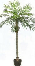 7' Artificial Phoenix Palm Tree Plant Pot Arrangement Flower Sago Date Pool Den