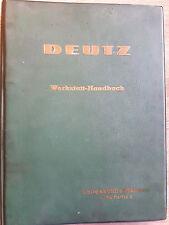 Original Werkstatthandbuch Deutz F/AL 714