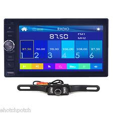 "Camera+2Din 6.5"" Car Stereo DVD CD MP3 Player HD In Dash Bluetooth Ipod TV Radio"