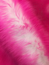 "Faux Fur fake fuchia Frosted tips fabric 60"" Wide sold by the yard upholstery"