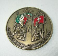 Trieste Italy Police  50th anniversary desk medal plaque