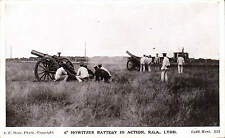 """Lydd Camp. 6"""" Howitzer Battery in Action  by A.E. Shaw, Lydd."""