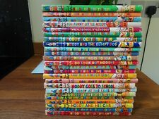 Vintage  1950s Noddy Goes To Toy land Collection of 24 books by Enid Blyton.