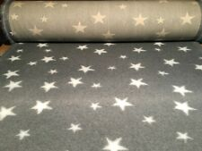Non Slip Vet Bed Dog Puppy Pet Whelping Fleece Grey White Stars Freepost