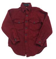 VTG L.L. Bean Red Black Wool Northwoods L/S Shirt Jacket Made in USA Men's S