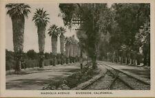 Magnolia Avenue Street View in Riverside California CA Postcard B20