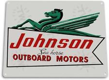 Johnson Sea-Horse Outboard Motors Marina Boat Retro Tin Metal Sign