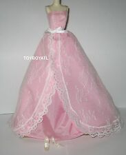 Barbie Birthday Wishes 2015 Doll Lace Gown Outfit NEW Model Muse Dress & Shoes
