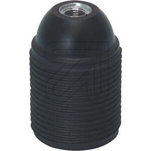 Iso-Fassung E27 Außengewinde Kunststoff Fassung Leuchten schwarz m. Außengewinde