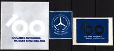 3 alte reklamemarken thema mercedes-benz, 75 und 100 jahre automobil  /0824