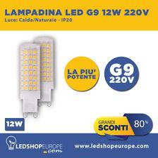 LAMPADINA LED SMD 12W 360° ATTACCO G9 - LUCE CALDA / NATURALE / FREDDA 220V