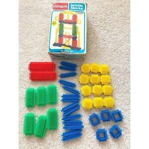 Vintage Playskool Bristle Blocks #816 Complete Set 39 Pieces 1981 w/Original Box