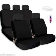 New Black Cloth Car Seat Covers Support Split Rear Seat With Gift For Toyota