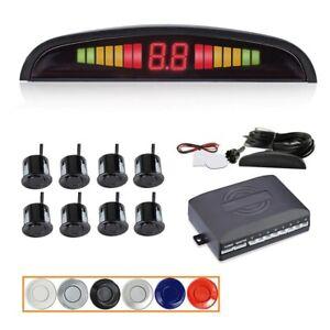 12V Car Parktronic LED Parking Sensor Kit Reverse Radar System with 8,4 Sensors
