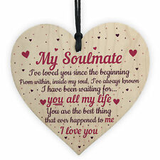 Soulmate Gifts Heart Plaque Anniversary Birthday I Love You Gift For Him For Her