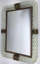 Venini Murano Glass Barovier & Toso Mirrored Mirror Twisted Rope Brass Tray Old