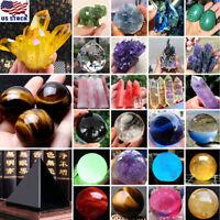 Natural Quartz Magic Gemstone Sphere Crystal Reiki Healing Ball Stone Decor Lot