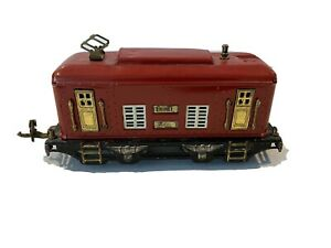 VINTAGE 1927 LIONEL PREWAR TRAIN-RED NO. 248 ELECTRIC LOCOMOTIVE ENGINE-O-GAUGE