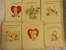 Vtg American Greetings Kewpie Valentine Greeting Cards/Decorated Envelopes