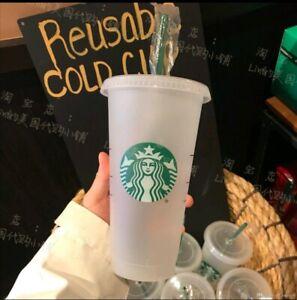 Starbucks Becher Reusable Cold Cup I wiederverwendbar 1 Stück 24oz I 710 ml NEU