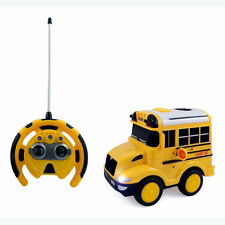 R/C School Bus Radio Control Toy Car for kids with Steering Wheel Remote #Ps26A