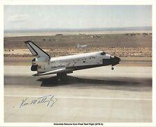 Ken Mattingly FIRMATO Space Shuttle STS-4 NASA foto - uacc & aftal AUTOGRAFO