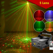 5 Lens Laser Lights RGB Multi Gobos Effect Holiday Decor remote DJ Lamp YC
