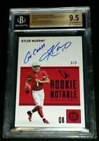 "BGS 9.5/10 RC /9 KYLER MURRAY ON CARD AUTO *""Go Cards"" *SSP ROOKIE *2019 Encased"