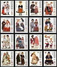 Full stamp SET of ESTONIA - Estonian folk costumes (36 stamps)