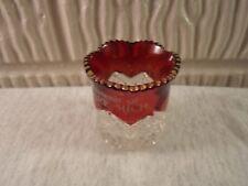 Clare Mi Mich Michigan,   eapg ruby flash souvenir toothpick holder
