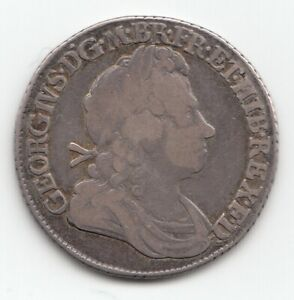 1719 GEORGE I ROSES & PLUMES SHILLING 1/-