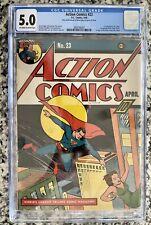 Action Comics 23 Cgc 5.0 First Lex Luthor Universal Blue Label