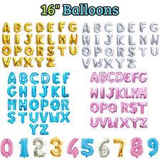 HQ Or Argent Rose Bleu 40.6cm Lettre Alphabet Numéro Ballon Plat Mariage Fête