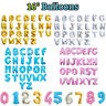 "Foil Letter & Number Air Balloons 16"" Alphabet A-Z Birthday NAME PARTY Ballons"
