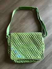 Vera Bradley Retired Apple Green Daisy Adjustable Strap Messenger Bag