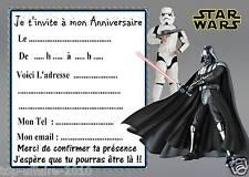 5 cartes invitation anniversaire  star wars  03  d'autres en vente !!
