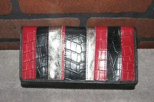Rolfs Tri-fold Leather Checkbook Wallet