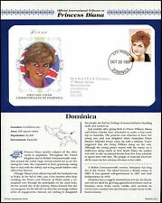 Dominica 1997 Diana Princess Of Wales FDC + Info Card Page #V6590