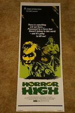 HORROR HIGH   HORROR  INSERT  1974