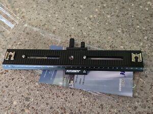Fotomate LP-03 movable 2-way macro focusing tripod rail slider photography