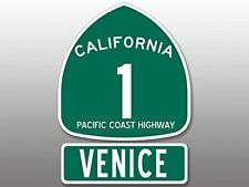 4x5.5 inch PCH 1 and VENICE Sticker (Highway ca rv beach route road vb muscle)