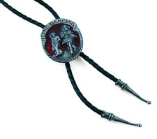 Bolo Tie Western Tie Leather cord adjustable with Clip Line Dance red
