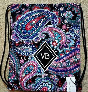 Vera Bradley Drawstring Backsack light nylon backpack in HAYMARKET PAISLEY