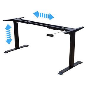 Albatros Schreibtisch-Gestell LIFT Schwarz, elektrisch höhenverstellbar