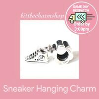 New Authentic Genuine PANDORA Silver Sneaker Hanging Charm - 790350 RETIRED