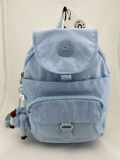 Kipling Queenie Mini Backpack Fainted Blue Tonal Nylon $99 NWT
